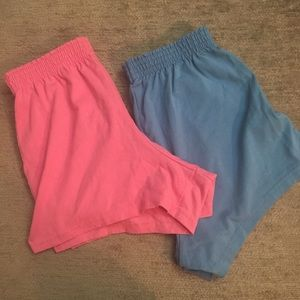 Pants - Athletic cheerleading shorts high waist pink blue
